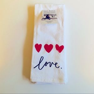 New! Set of 2 Rae Dunn LOVE Hearts Towels.